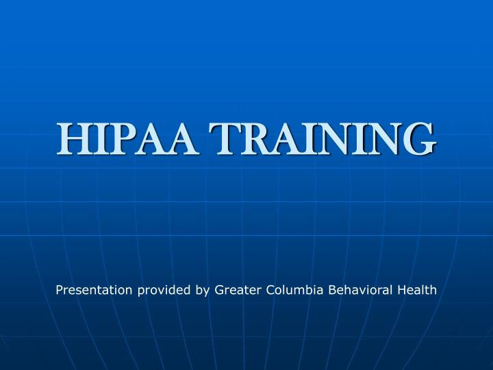 hipaa training n.