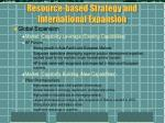 resource based strategy and international expansion3
