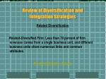 review of diversification and integration strategies1
