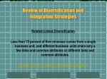 review of diversification and integration strategies2