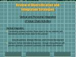 review of diversification and integration strategies3