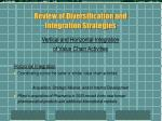review of diversification and integration strategies4