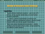 review of resource base strategy5