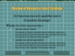 review of resource base strategy6