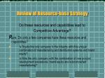 review of resource base strategy7