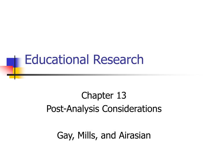 educational research n.