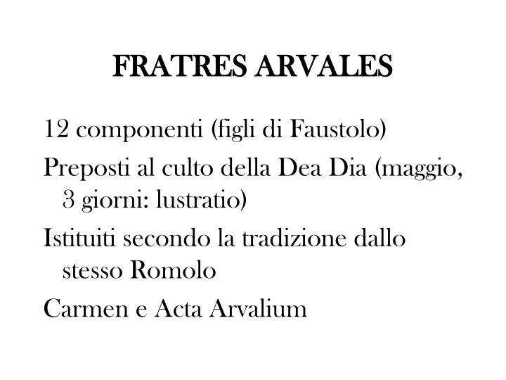 FRATRES ARVALES