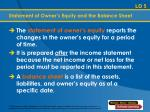 statement of owner s equity and the balance sheet