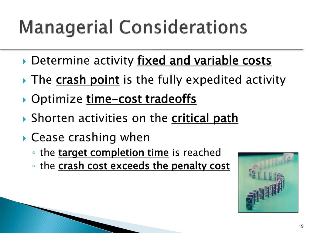 PPT - Project Scheduling: Lagging, Crashing and Activity Networks