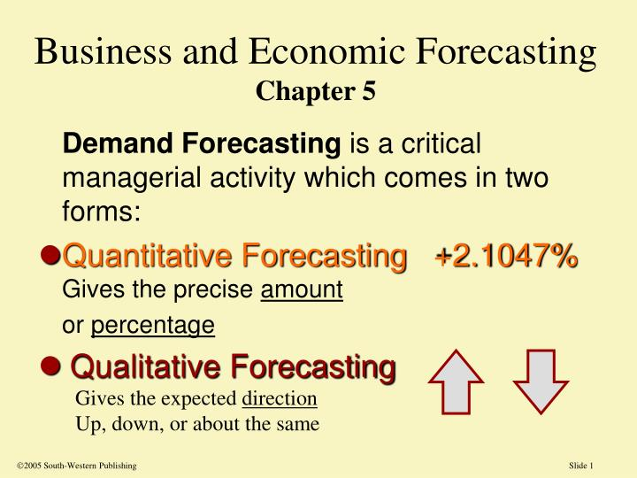 business and economic forecasting chapter 5 n.