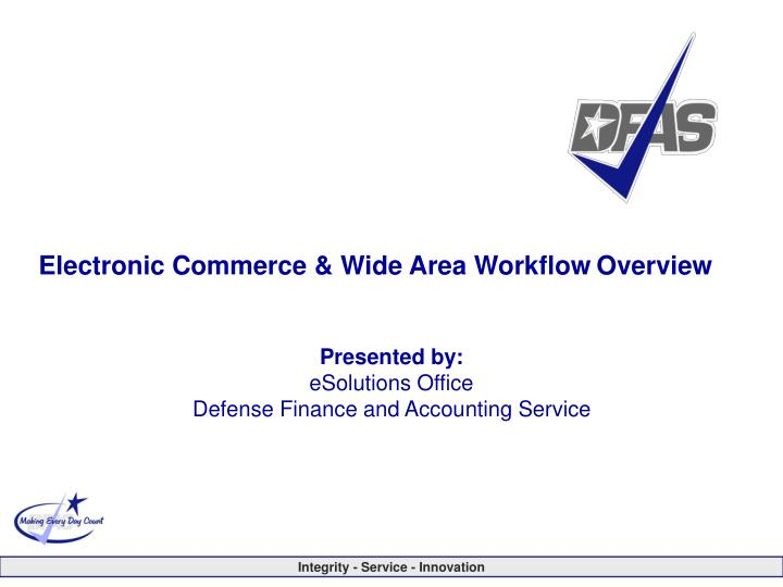 electronic commerce wide area workflow overview n.