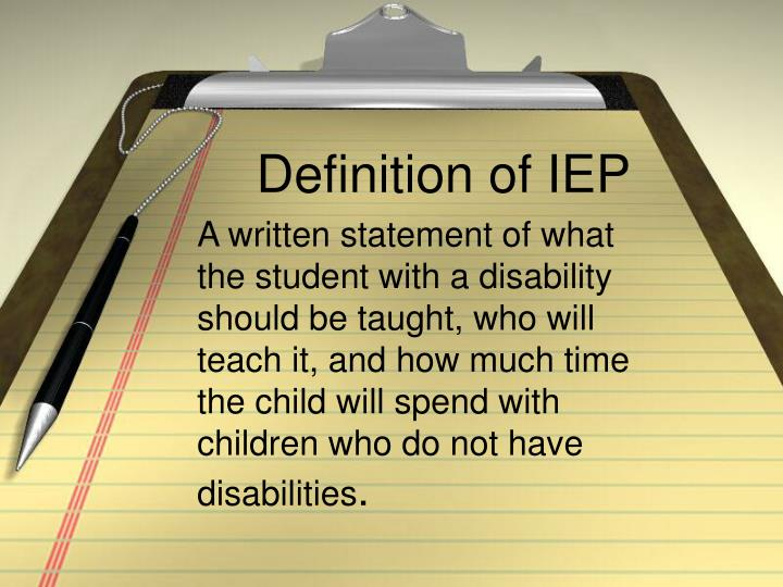 Definition of IEP