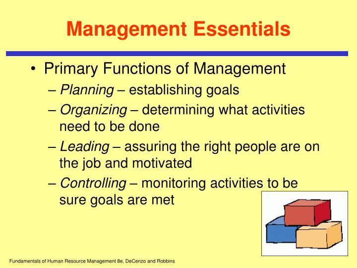 Management essentials1