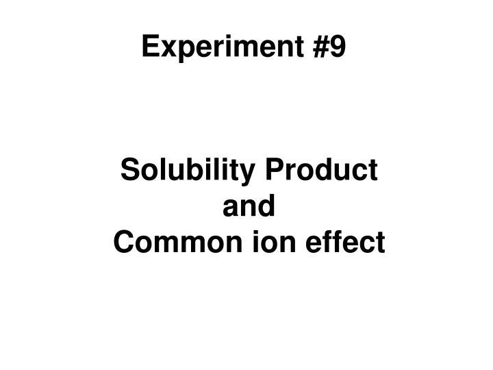 Experiment #9