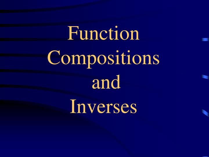 function compositions and inverses n.