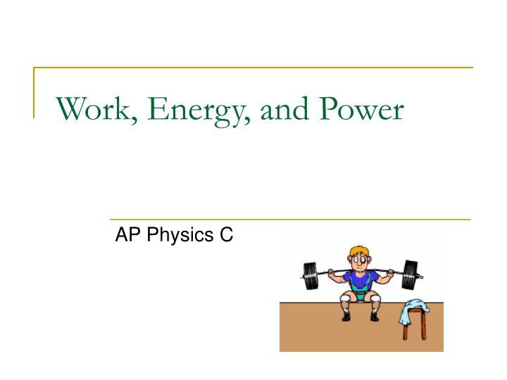 work energy and power n.