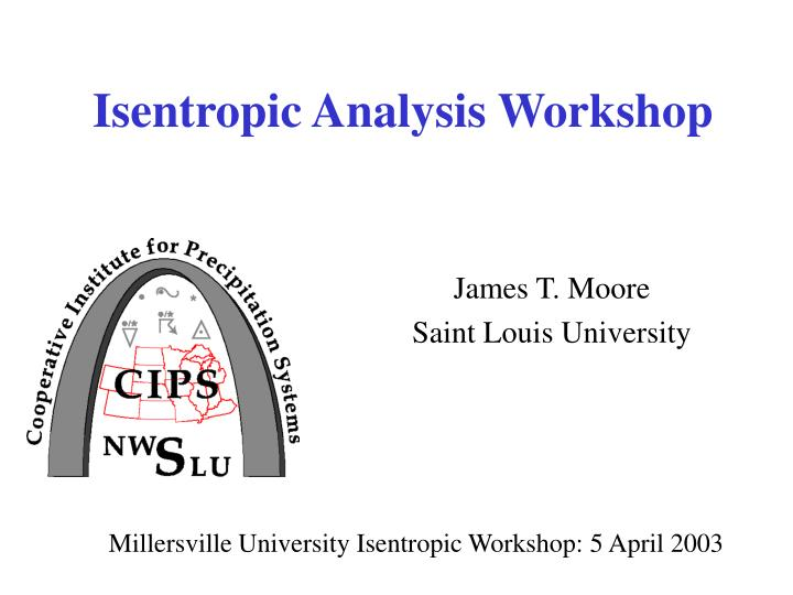 isentropic analysis workshop n.