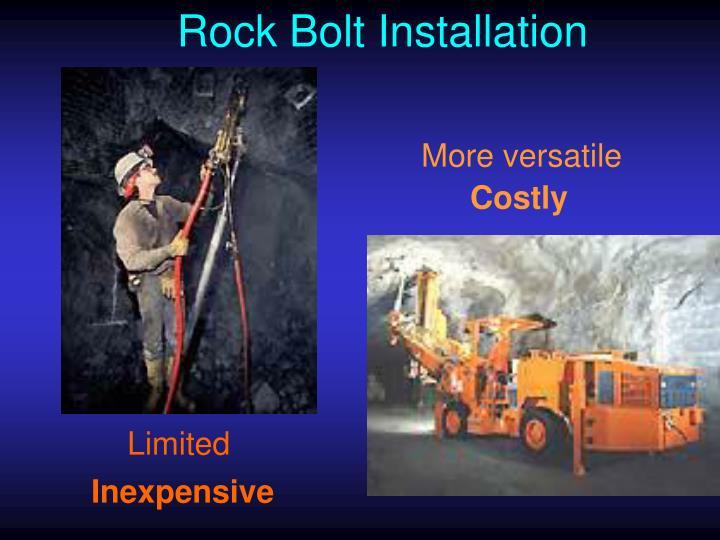 Rock Bolt Installation
