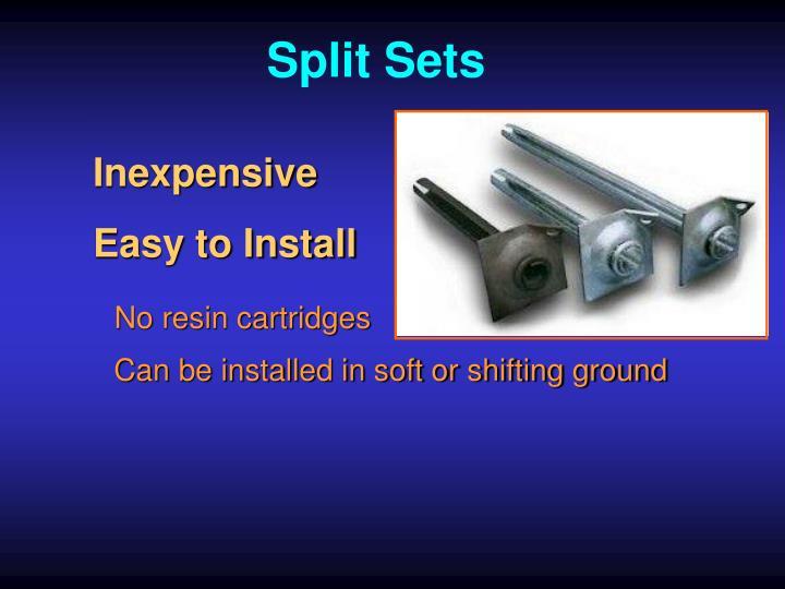 Split Sets