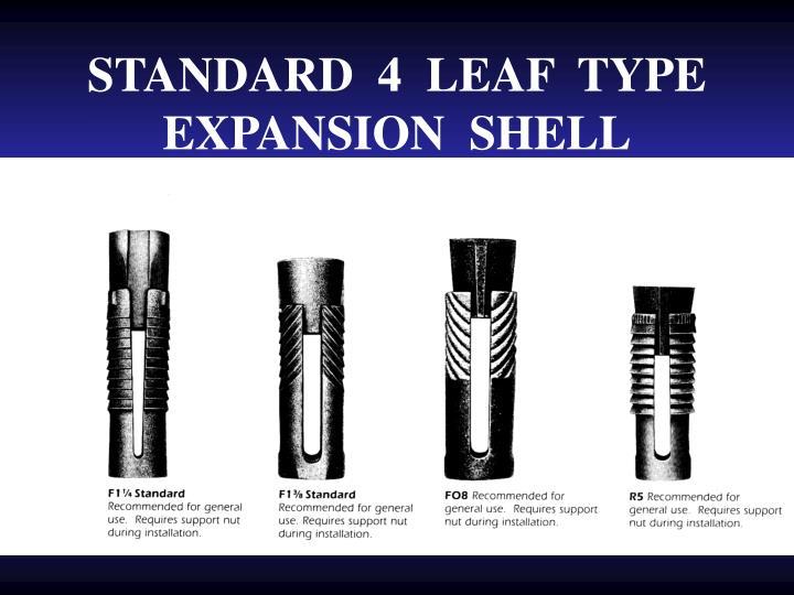 STANDARD  4  LEAF  TYPE  EXPANSION  SHELL