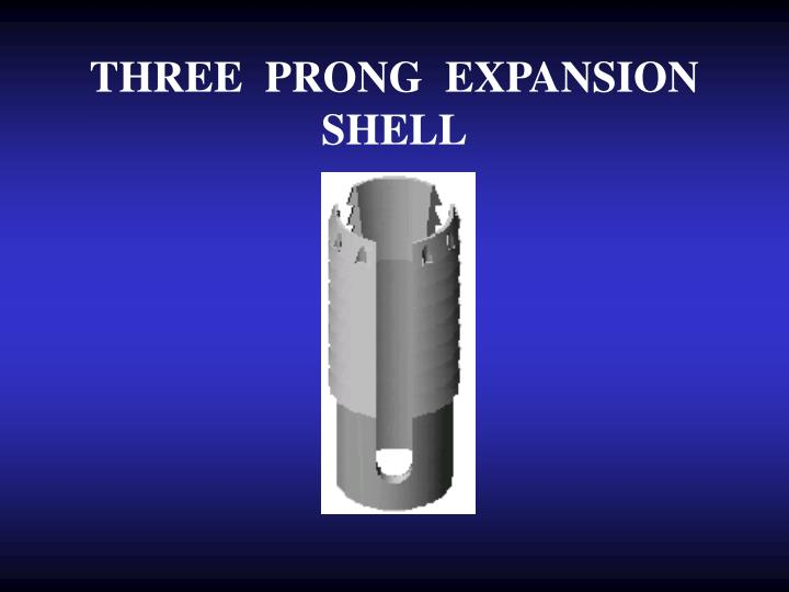 THREE  PRONG  EXPANSION  SHELL