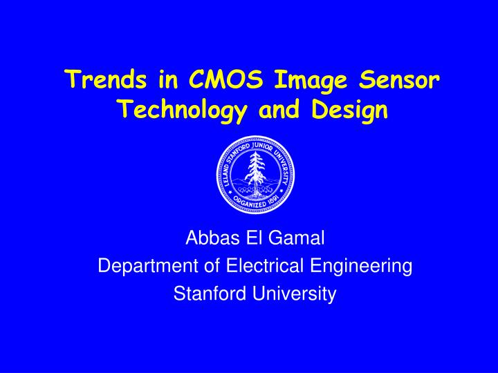 trends in cmos image sensor technology and design n.