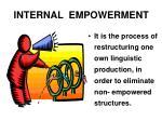 internal empowerment