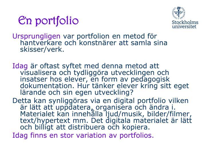 En portfolio