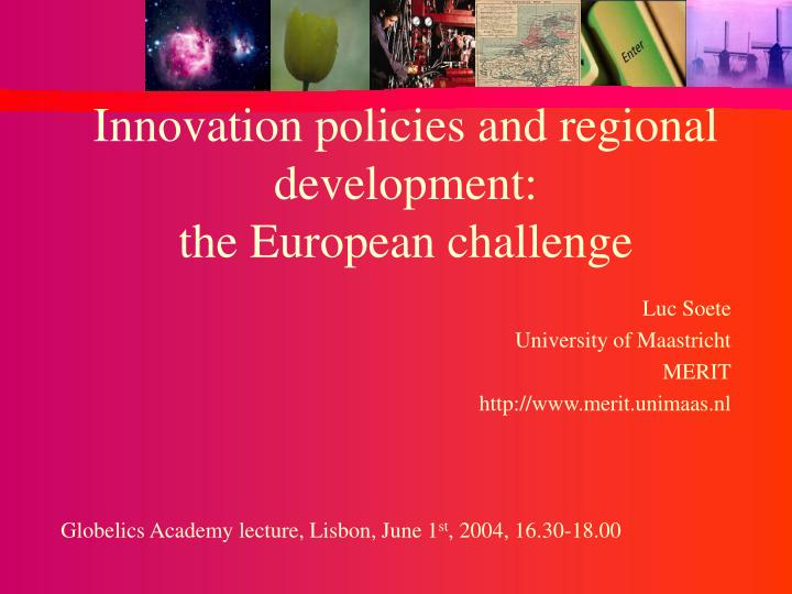 innovation policies and regional development the european challenge n.