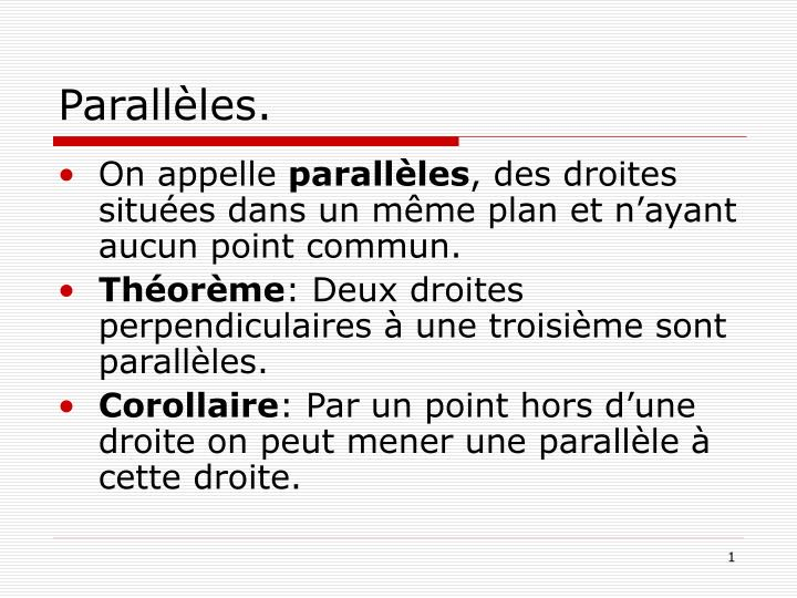 parall les n.