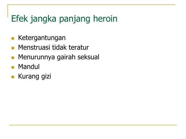 Efek jangka panjang heroin