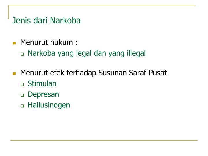 Jenis dari Narkoba