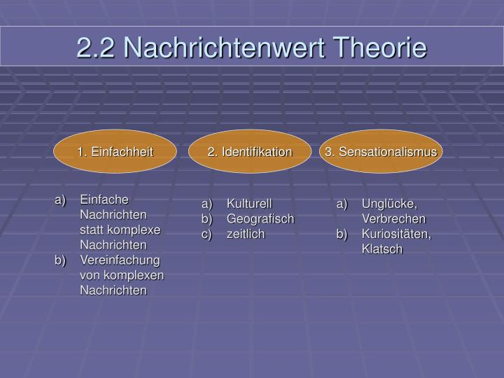 2.2 Nachrichtenwert Theorie