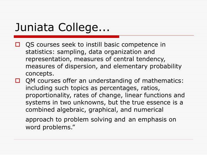 Juniata College...