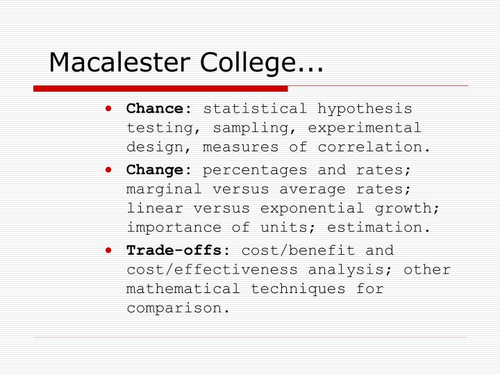 Macalester College...