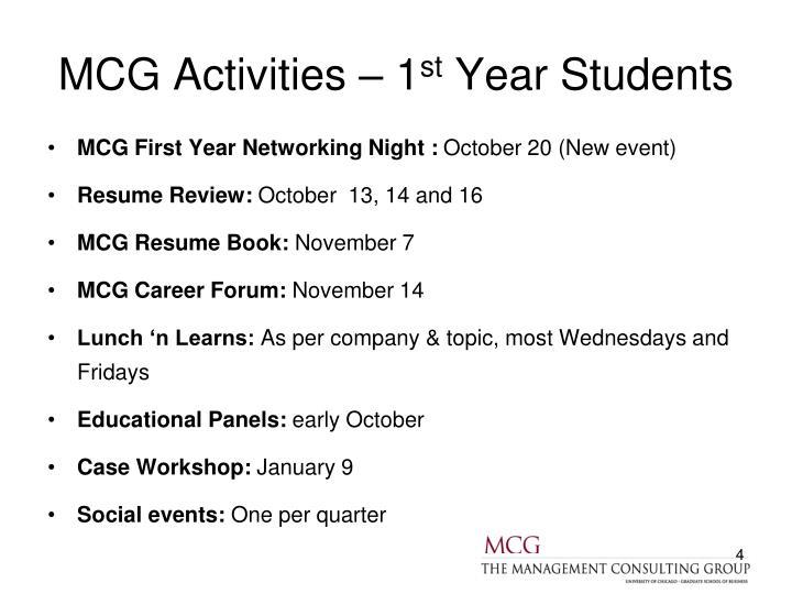 MCG Activities – 1