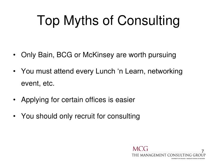 Top Myths of Consulting