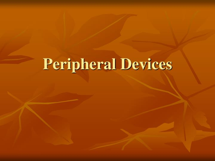 peripheral devices n.