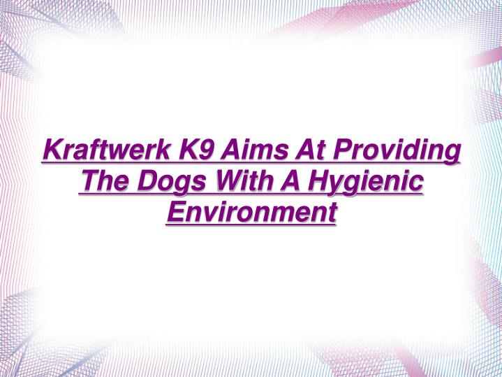 Kraftwerk K9 Aims At Providing The Dogs With A Hygienic Environment