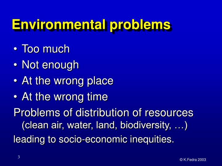 Environmental problems1