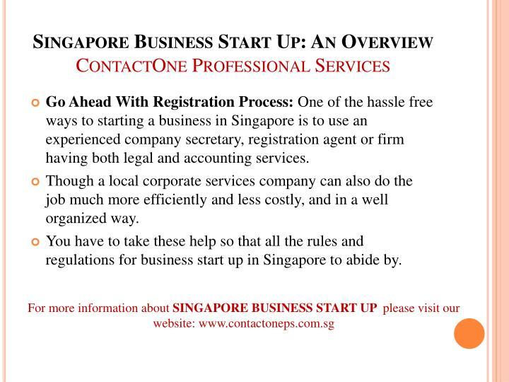 Singapore Business Start Up: An Overview