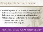 citing specific parts of a source1