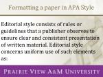 formatting a paper in apa style1