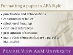 formatting a paper in apa style2