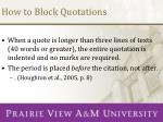 how to block quotations