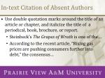 in text citation of absent authors1