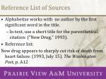 reference list of sources1