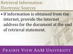 retrieval information electronic sources