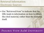 retrieval information electronic sources1