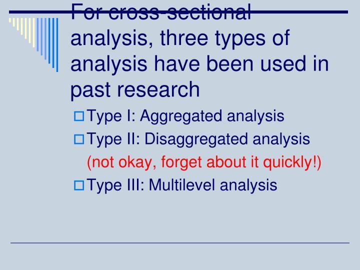 Type I: Aggregated analysis